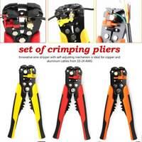 Self-Adjusting Insulation Wire Stripper Crimper Cutter Terminal Pliers Tool New