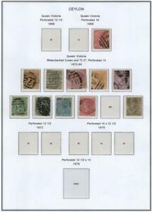 CEYLON: 1868-1899 Victoria Examples - Ex-Old Time Collection - 2 Sides (40910)