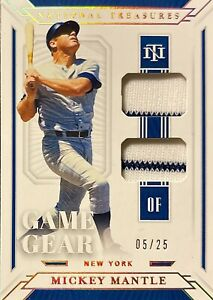 Mickey Mantle 2019 National Treasures double pinstripe game used jersey #5/25