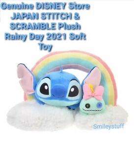 Genuine DISNEY Store JAPAN STITCH & SCRAMBLE Plush Rainy Day 2021 Soft Toy, DSJ