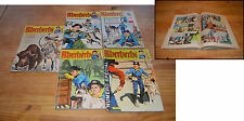 Lot de 5 revues Rintintin (22, 23, 44, 63, 73), 1971 à 1976, état global...