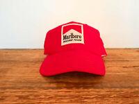 Marlboro Racing Team Vintage Hat Snapback Red Cap 90s Indy Penske Formula Car