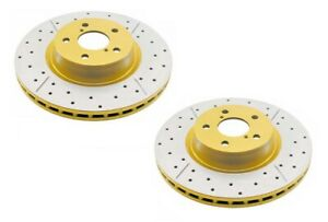 DBA X-Gold Brake Rotor Pair Rear DBA614X fits Nissan Pintara 2.0 i (U12), 2.4...