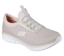 NEW SKECHERS Women Sneakers Comfort Memory Foam SYNERGY 2.0 - MIRROR IMAGE Beige