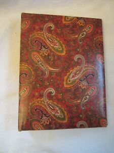 Vintage Retro 60's/70's Red Green Paisley Floral Photo Album 3 Ring Note Book