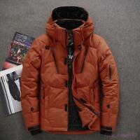 Winter Outwear Men Duck Down Jacket Coat Parka Warm Hooded Thick College Fashion