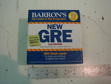 BARRON'S NEW GRE 2ND EDITION 500 FLASH CARDS