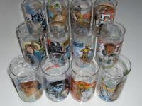 Star Wars Vintage Glasses Complete Set Of 12 SW ESB ROTJ