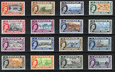 BAHAMAS 1954 DEFINITIVES SG201/216 MNH