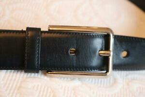Authentic PRADA belt mens black leather belt size Small 36/90 rarely worn ref GC