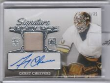 2016 ENSHRINED HOCKEY GERRY CHEEVERS JERSEY AUTO GAME-USED #/35 SP.