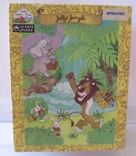 "VTG Little Golden Book Land 1989 Jolly Jungle 25 Piece Puzzle 10"" x 13"" USA Lion"