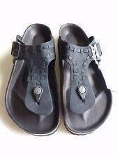 new TATAMI BIRKENSTOCK Braided Leather Sandal RAMSES Waxy black EU39 US8-8.5 UK6