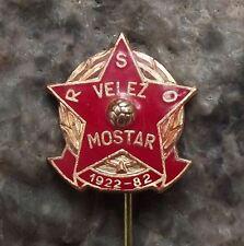 1982 FK Velez Fudbalski Klub Mostar Football Club Soccer Anniversary Pin Badge