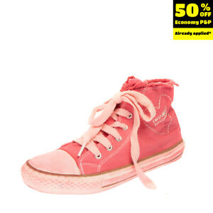 RRP €160 TWINSET Sneakers Size 35 UK 2.5 US 4.5 Embroidered Logo Crochet Topline
