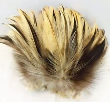 "50+ NATURAL BADGER ROOSTER SADDLE CRAFT MILLENARY FEATHER 5""-6""L"