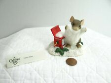 Charming Tails Cotton Claus Mouse Figurine 98/222 Christmas Beard Special Ed