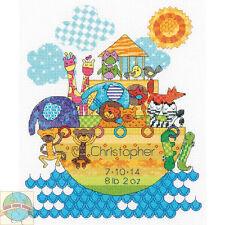 Cross Stitch Kit Dimensions Noah's Ark Animals Baby Birth Record #70-74066 SALE!