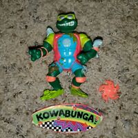 Sewer Surfin Mike Teenage Mutant Ninja Turtles 1990 TMNT Michelangelo Figure