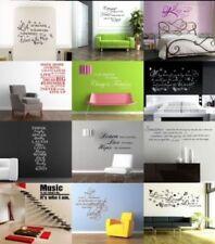 Pegatinas de pared sin marca de palabras y frases para el hogar