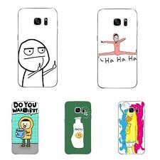 Case For Samsung Galaxy S4 S7 Edge Soft TPU Cell Phone Back Cover Funny  Style