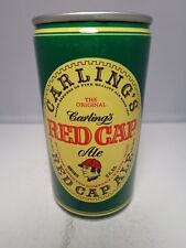RED CAP ALE CARLING ALUMINUM PULL TAB BEER CAN 112-40-A   NATICK MASSACHUSETTS