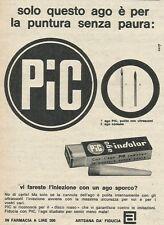 W8390 Ago per iniezioni PIC INDOLOR - Pubblicità 1962 - Advertising