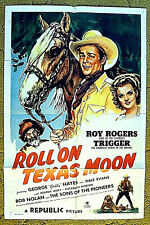 """ROY ROGERS, DALE EVANS, GABBY original 1946 poster 27x41 -- """"ROLL ON TEXAS MOON"""""""