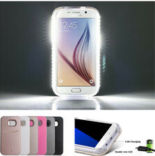 LED Light Selfie Phone Back Case Cover for Samsung Galaxy S5 S6 S7 Edge
