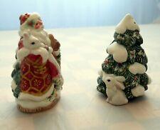 Fitz & Floyd Santa and Tree Salt Pepper Shakers