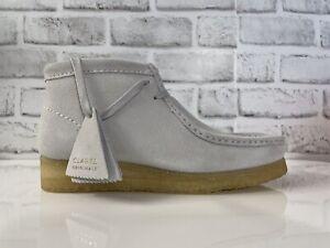 Clarks Originals Wallabee Boot Womens Blue Grey Suede Wallabee Boots