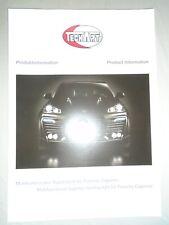 TECHART Porsche Luces De Circulación Diurna FOLLETO Feb 2009 inglés y texto alemán