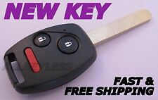 OEM HONDA keyless entry remote fob transmitter MLBHLIK-1T +NEW CASE W/ UNCUT KEY