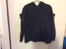 LAURA SCOTT BLACK HOODIE  16/18W PRE-OWNED CONDITION
