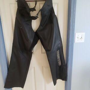 Harley Davidson Womens Leather Chaps Black Size 1W