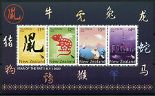 New Zealand NZ Year of Rat Stamps 2020 MNH Chinese Lunar New Year 4v M/S