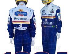 Brand New Ayrton Senna 1994 William Rothmans Racing Formula 1 suit replica,S-2XL