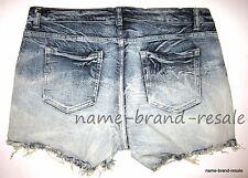 NEW Denim Cutoff Jean SHORTS Womens PLUS Size 12 0X XL Dip Dye Ombre Summer Sexy