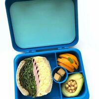 Aohea Kids Bento Box for Lunch or Snack Microwavable Buckle Lock & Sealed - Blue