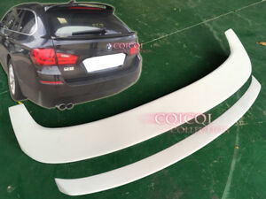 Painted BMW 11~16 F11 5-series wagon touring roof spoiler+ middle trunk spoiler◎