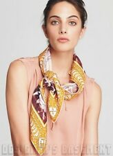 EMILIO PUCCI orange PORTICATO Columns/Leo Spots silk LARGE scarf NWT Authentic!