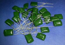 100nF Polyester Film Capacitor  ..........Lot of 25...