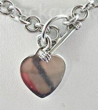 Estate Heart 18 Inch Link Chain ~ .925 Silver Sterling Necklace ~ 39.1g
