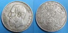 BELGIQUE - 5 FRANCS - 1873 - LEOPOLD II - Argent