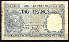 BILLET Bayard. 20 Francs. 14/11/1917. P.3352 / 974