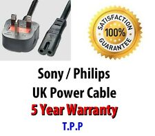 GENUINE UK Mains Power Lead Cord Cable Sony Philips Blu-Ray DVD Player/Recorder
