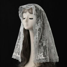 Women Floral Lace Mantilla Catholic Church Chapel Scarf Lace Mass Head Covering