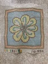 Vintage Paragon latch hook rug canvas 18� Square Flower Power - Canvas Only