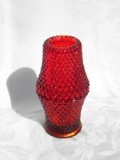 Home Interiors? Ruby Amberina Glass Hobnail Fairy 2 Pc Votive Candle Holder Lamp