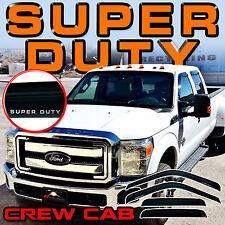 2013 2014 2015 2016 F250- F550 Super Duty Crew Cab Window Visor Deflectors Guard